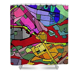 Cityplan#2 Shower Curtain
