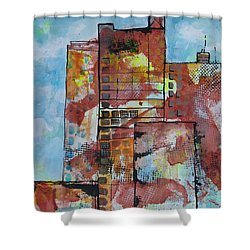 Cityscape 230 Shower Curtain by Karin Husty