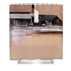 Shower Curtain featuring the painting Cityscape 3 by Anil Nene