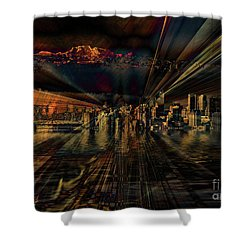 Cityscape Shower Curtain by Elaine Hunter