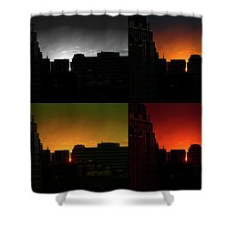 Shower Curtain featuring the photograph Cityscape Sunset by Jeff Ross