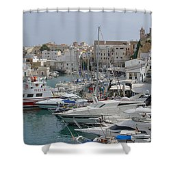Ciutadella Marina Shower Curtain by Rod Johnson