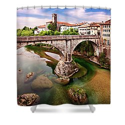 Shower Curtain featuring the photograph Cividale Del Friuli - Italy by Barry O Carroll