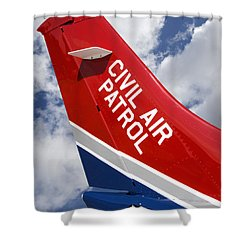 Civil Air Patrol Aircraft Shower Curtain