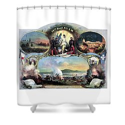 Civil War 14th Regiment Memorial Shower Curtain by War Is Hell Store