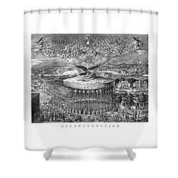 Civil War Reconstruction Shower Curtain by War Is Hell Store