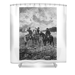 Civil War Soldiers On Horseback Shower Curtain by War Is Hell Store
