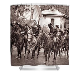 Civil War Soldiers On Horses Shower Curtain