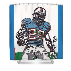 Cj Spiller 1 Shower Curtain by Jeremiah Colley