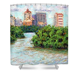 Clam Pass I Shower Curtain by Laurie Paci