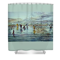 Clamdigging Family Shower Curtain
