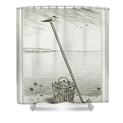 Clamming Shower Curtain