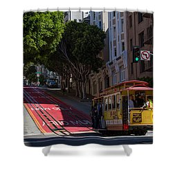Clang Clang Goes The Cable Car Shower Curtain