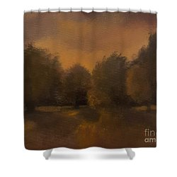 Clapham Common At Dusk Shower Curtain