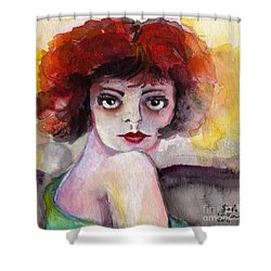 Clara Bow Vintage Movie Stars The It Girl Flappers Shower Curtain by Ginette Callaway