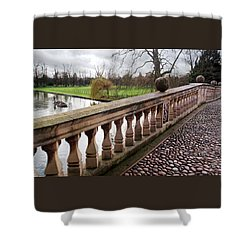 Shower Curtain featuring the photograph Clare College Bridge Cambridge by Gill Billington