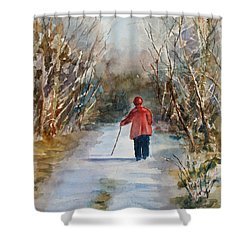 Clare's Lane Shower Curtain