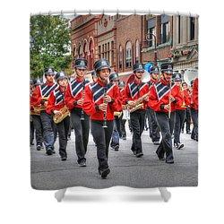 Clarinda Iowa Marching Band Shower Curtain