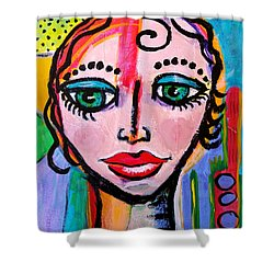 Clarissa - Vivid Vixen 3 Shower Curtain