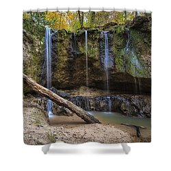 Shower Curtain featuring the photograph Clark Creek Waterfall No. 1 by Andy Crawford