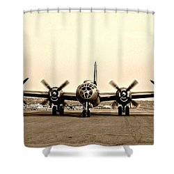Classic B-29 Bomber Aircraft Shower Curtain