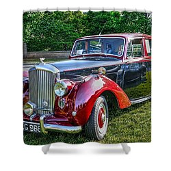Classic Bentley In Red Shower Curtain