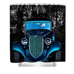 Classic Blue Shower Curtain