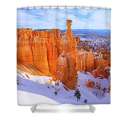 Shower Curtain featuring the photograph Classic Bryce by Chad Dutson
