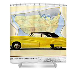 Classic Car Ads Shower Curtain