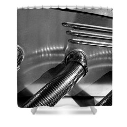 Classic Car Exhaust Shower Curtain