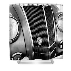 Classic Car Grill 1935 Desoto - Photography Shower Curtain