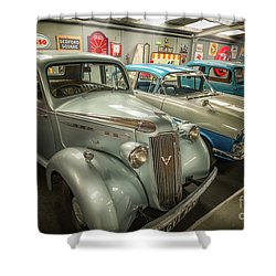 Shower Curtain featuring the photograph Classic Car Memorabilia by Adrian Evans