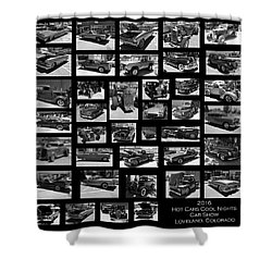 Shower Curtain featuring the photograph Classic Cars And Trucks by Angie Tirado