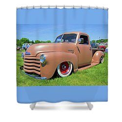 Classic Chevrolet Truck Shower Curtain by Marion Johnson