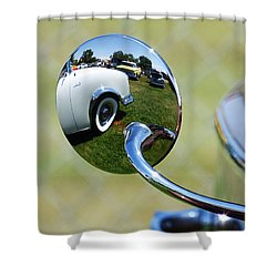 Classic Chrome Shower Curtain by Pamela Patch