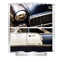 Classic Duo 5 Shower Curtain by Ryan Weddle
