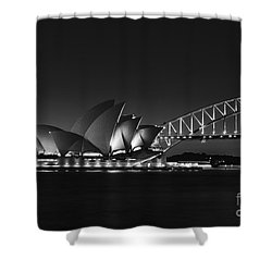 Classic Elegance In Bw Shower Curtain