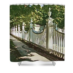 Shower Curtain featuring the photograph Classic Fence by Betsy Zimmerli