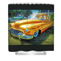 Classic Fifties Buick - Cruising The Coast Shower Curtain