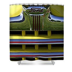 Classic Ford Chrome Grill Shower Curtain