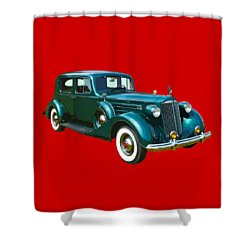 Classic Green Packard Luxury Automobile Shower Curtain