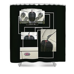 Classic Jag Shower Curtain by Hazy Apple