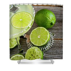 Shower Curtain featuring the photograph Classic Lime Margarita by Teri Virbickis