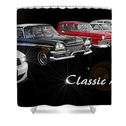 Classic Lineup Shower Curtain by David and Lynn Keller