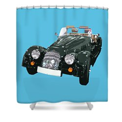 Classic Motor Art In Green Shower Curtain