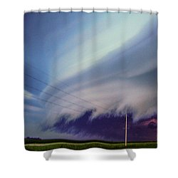Classic Nebraska Shelf Cloud 028 Shower Curtain