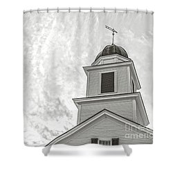 Shower Curtain featuring the photograph Classic New England Church Etna New Hampshire by Edward Fielding