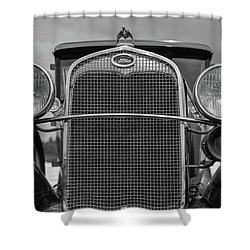 Shower Curtain featuring the photograph Classic Old Ford Car Model A by Edward Fielding