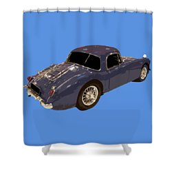 Classic Sports Blue Rear Shower Curtain