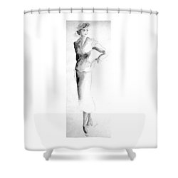 Classic Suit Shower Curtain by Beverly Solomon Design